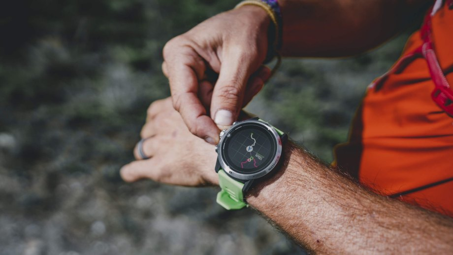 man using a gps watch gps watches