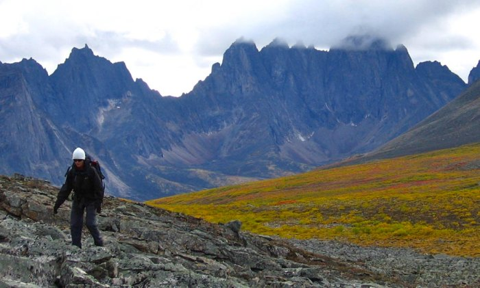"""Jagged, storm-covered peaks have earned the Tombstone wilderness the nickname """"Patagonia of the North""""; Photo courtesy of Yukon Wild"""