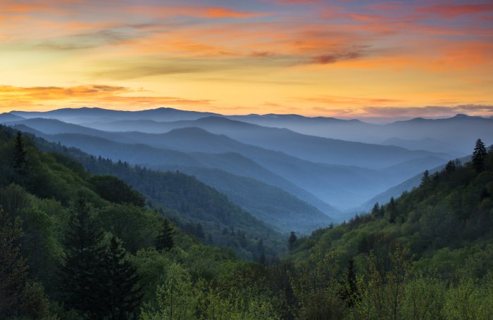 Ridge after ridge of mist and moodiness in the Great Smokey Mountains. Photo courtesy of Shutterstock.com