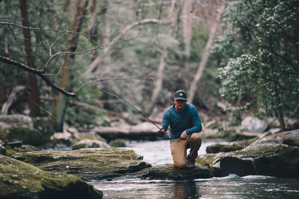 Will Watters (pictured above) drew on his love for fly fishing to design quick-dry apparel for his newly launched outdoor apparel company, Western Rise; Photo by Tony Czech