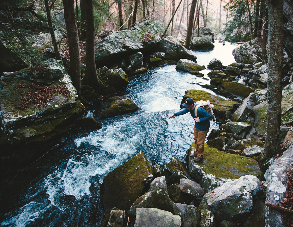 Fly fishing is a relaxing way to enjoy nature without dropping major cash or maxing out your muscles; Photo by Tony Czech