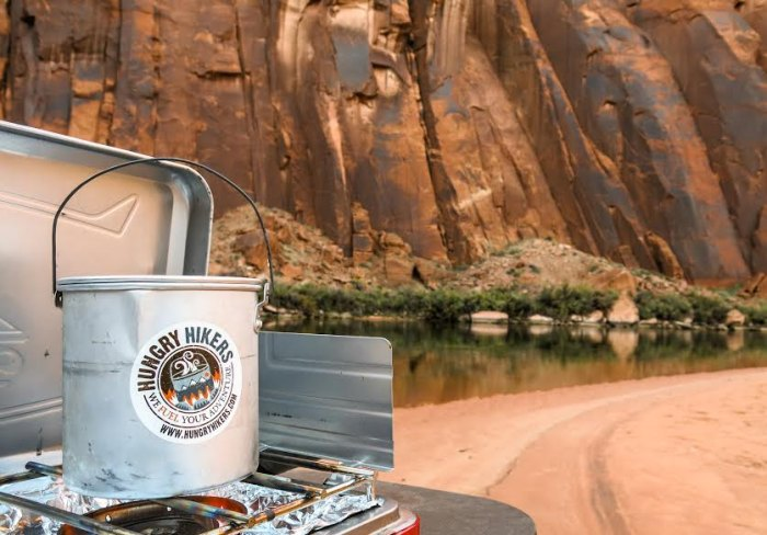 """One-pot meals are enhanced by """"travel-sized"""" and freeze-dried sauces. Photo courtesy of Hungry Hikers"""