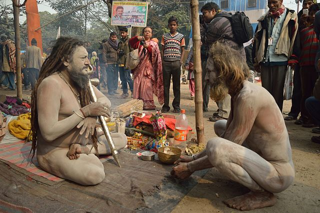 Naga sadhus in India.