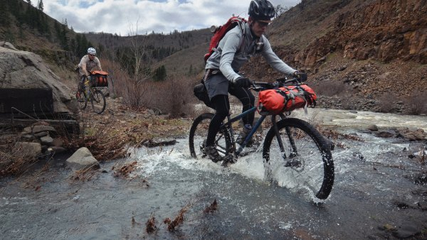 Come hell or high/not-that-high water, bike packers are self sufficient.