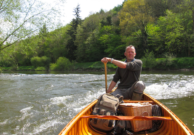 One of the rare English rivers with  canoe access - The Wye.
