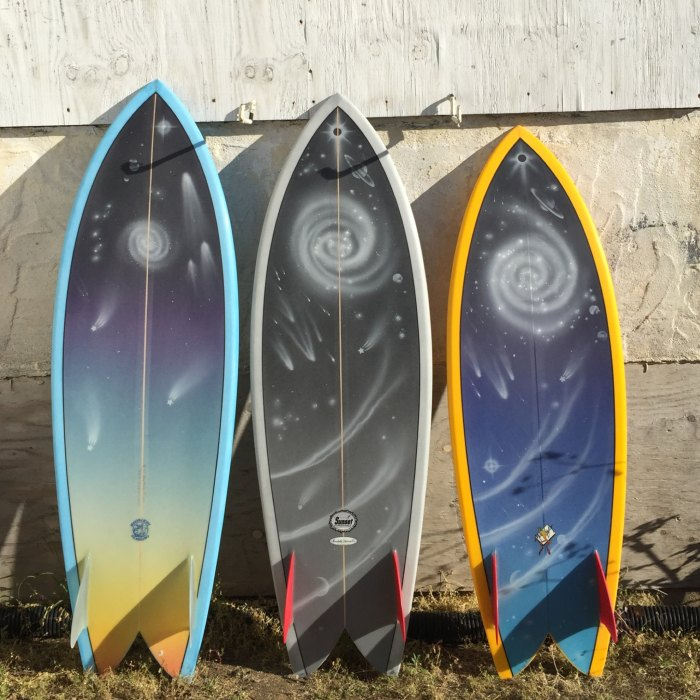 Some beautiful and functional wall hangers that need to be ridden. Photo: SurfySurfy.net