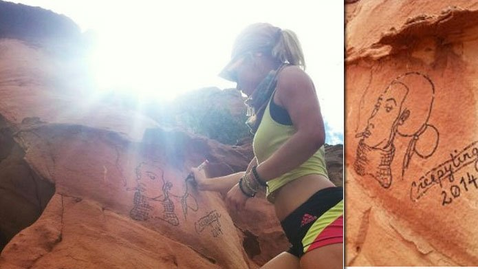Graffiti artist Casey Nocket sparked widespread outrage last year for defaced multiple national parks. Photos pulled from Nocket's Instagram account (since deleted)