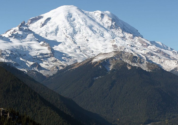 Washington's Mt. Rainier is a great place for beginning climbers to gain important skills. (Photo courtesy of Walter Siegmund)