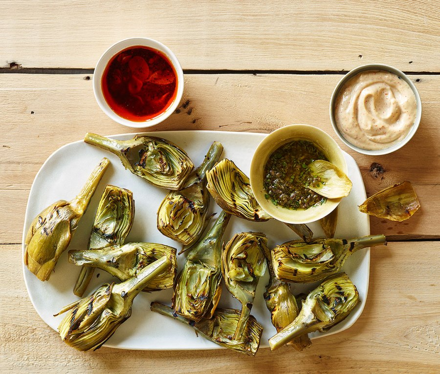 Grilled Artichoke and Sauces