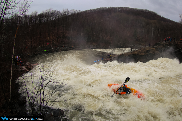 Kirk competing in the Stage III Time Trial of the 2014 Whitewater Grand Prix. Photo by John Rathwell (see the full gallery).