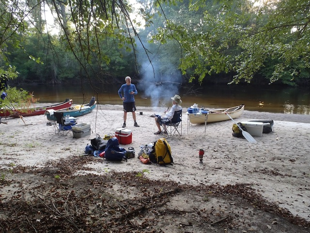 Bugs? What bugs? Our camp on the Edisto River, South Carolina. Photo by Burt Kornegay