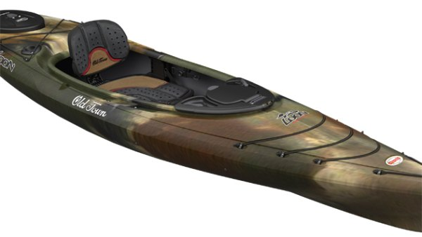 Old Town's new Loon Angler is designed to shelter anglers in its stable hull, extending their seasons. Courtesy photo.