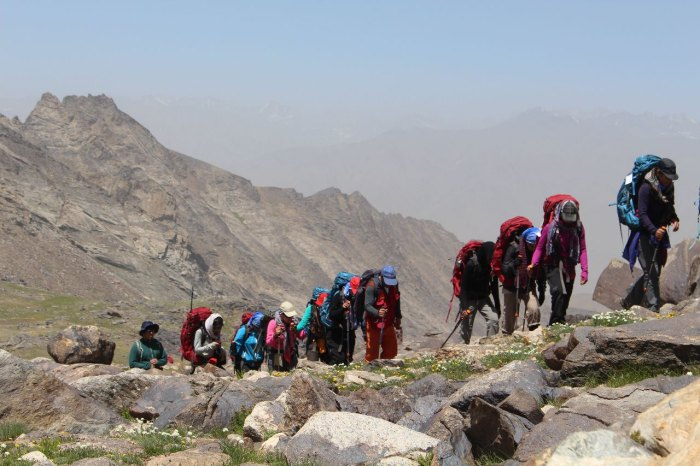 Afghan women conquer gender barriers with mountain climbing