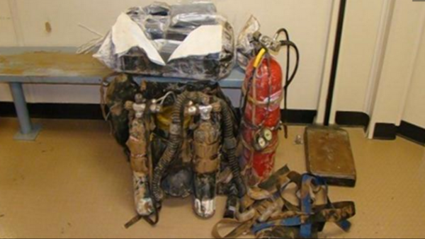 Smuggler attempts to scuba dive across border with 55 pounds of cocaine
