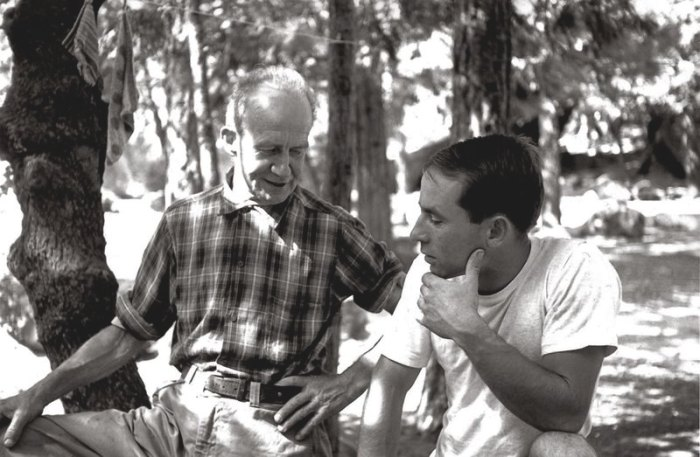 John Salathé and Yvon Chouinard (who would later found Patagonia), Camp 4, circa 1961. Photo: Tom Frost