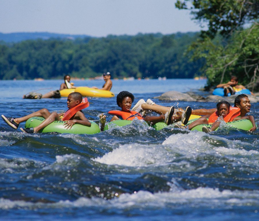 Rafting down the Delaware River