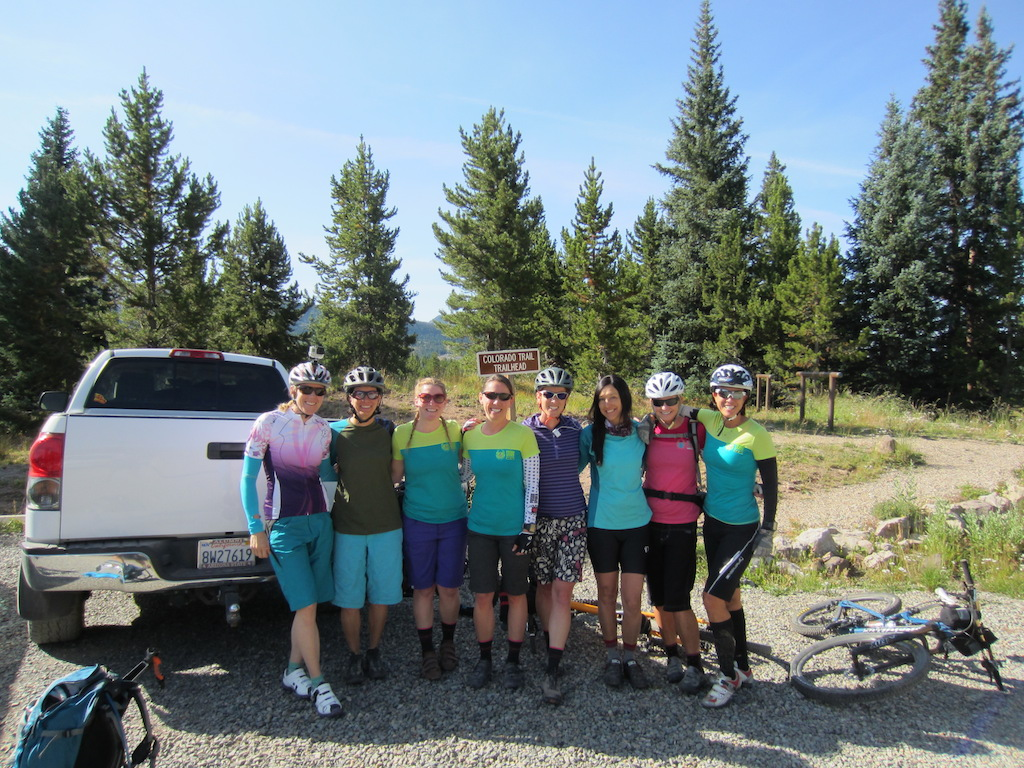 The eight ladies of the trail on the day of their departure. Photo courtesy Lara Kaylor
