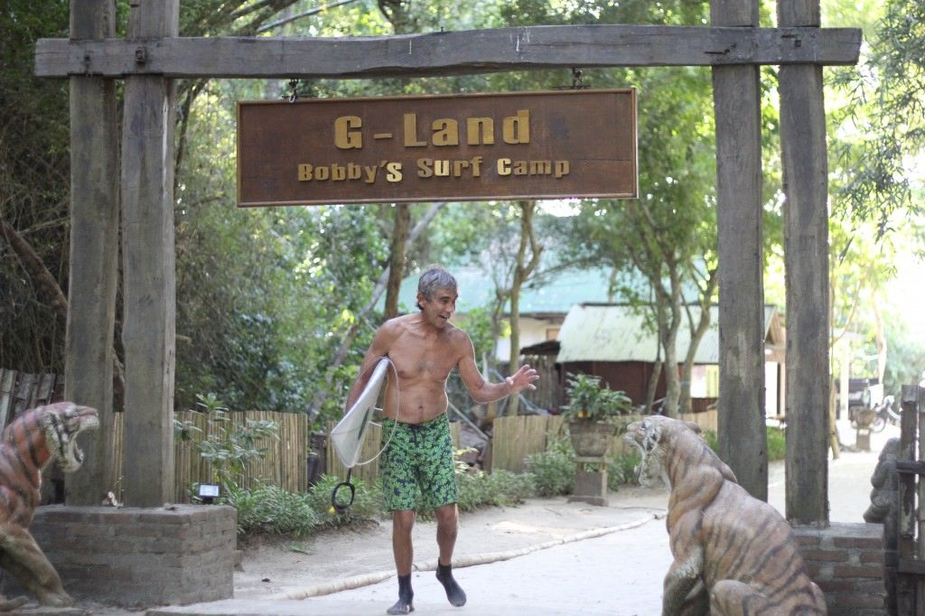 Gerry Lopez has been coming to G-land for 40 years. He must enjoy it, right? Photo by Bobby's