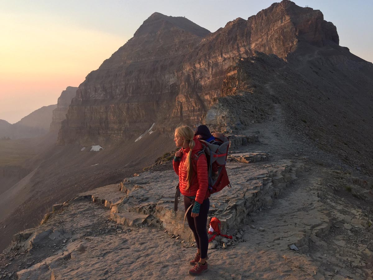 Brooke Gaynes took her now eight-month-old son, Huck, hiking when he was just a few days old. Photo courtesy of Nicklas.