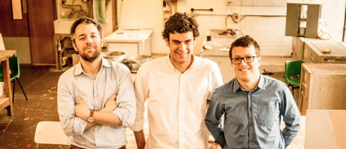 Ooho! is the first project of Skipping Rocks Lab, a London-based startup cofounded by Rodrigo Garcia Gonzalez, Guillaume Couche and Pierre Paslier. Photo: Skipping Rocks Labs