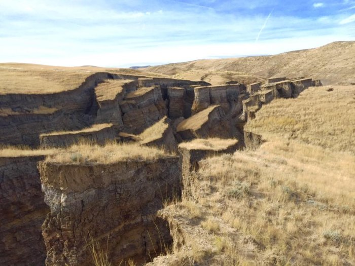 """A Wyoming Geological Survey expert called it a """"fairly small event given the overall aspect of how big landslides can be."""" Photo: Randy Becker"""