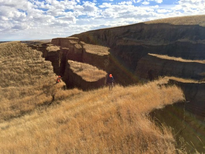 """The massive crack in the Bighorn Mountains is """"an awesome example of how our earth is not as stable as you might thing,"""" Randy Becker wrote"""