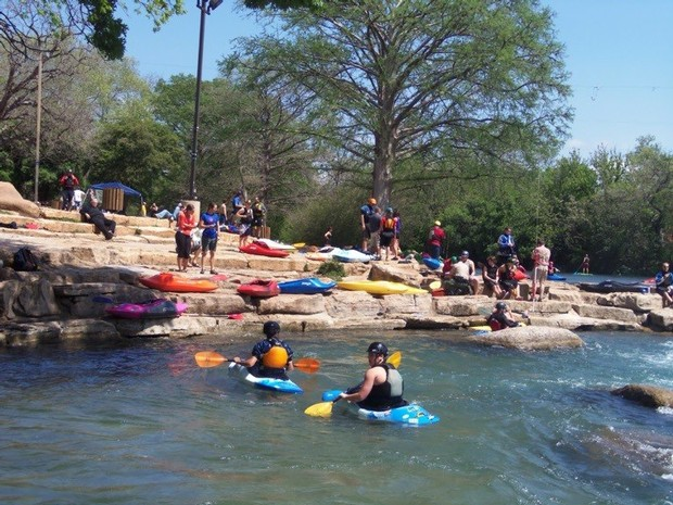The downtown water park is a great place to try paddling or hone your skills. Courtesy Olympic Outdoor.