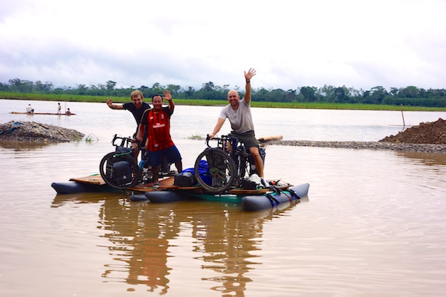 What could go wrong? Dawid, Hubert and Felipe at the headwaters of the Amazon. Courtesy photo.