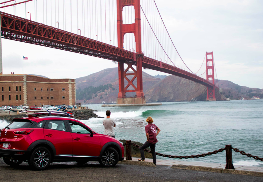 If you had a nickel for every wave that was more novel than Fort Point, San Francisco, you'd be broke.