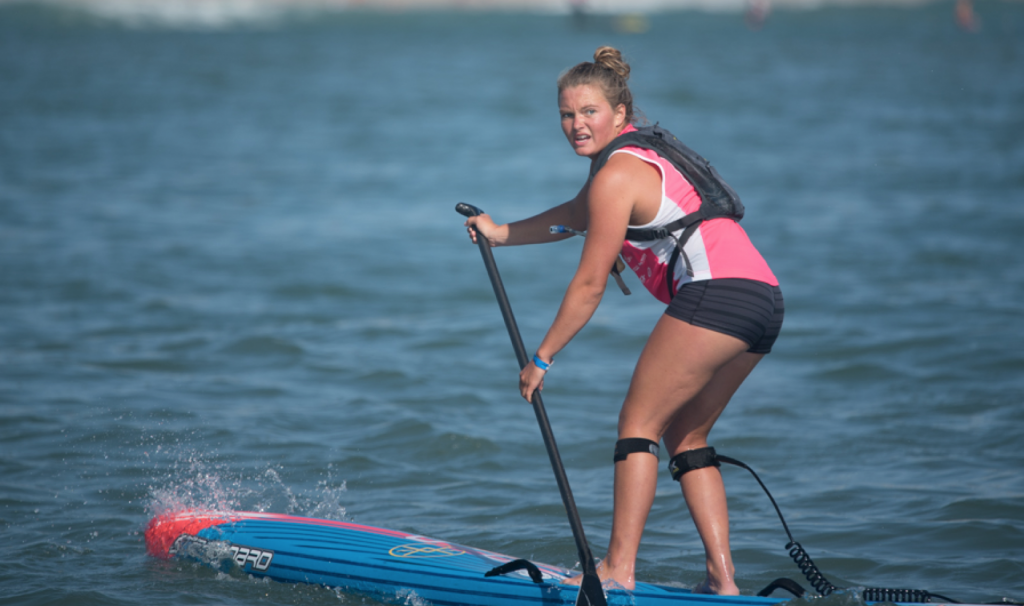 Fiona Wylde with the determined look of a true champion. Photo: Greg Panas
