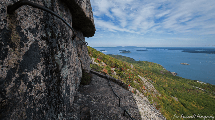 A rung and ladder section of Acadia's Precipice Trail. Photo: Dan Palowski Photography