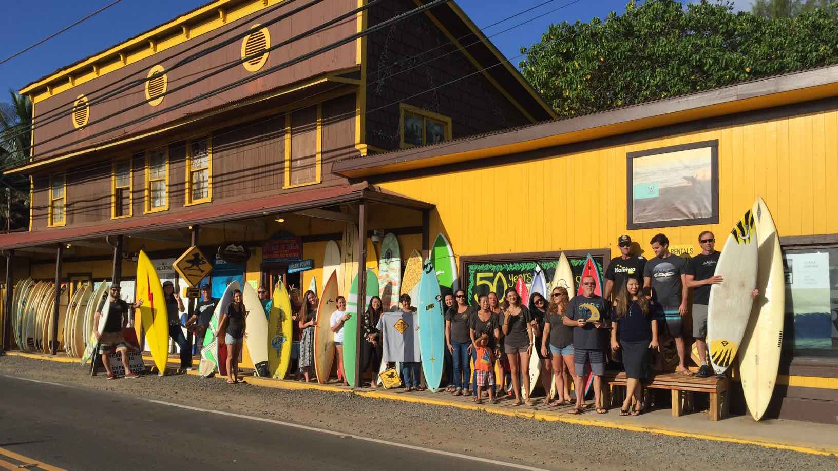 Head to the legendary SurfnSea shop in Haleiwa for all your surfboard needs. Photo: TW BUSINESS