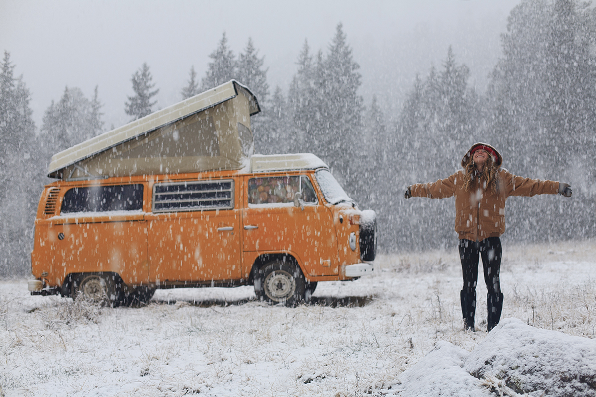"""An """"idle"""" moment in the snow. Photo: Idle Theory Bus"""