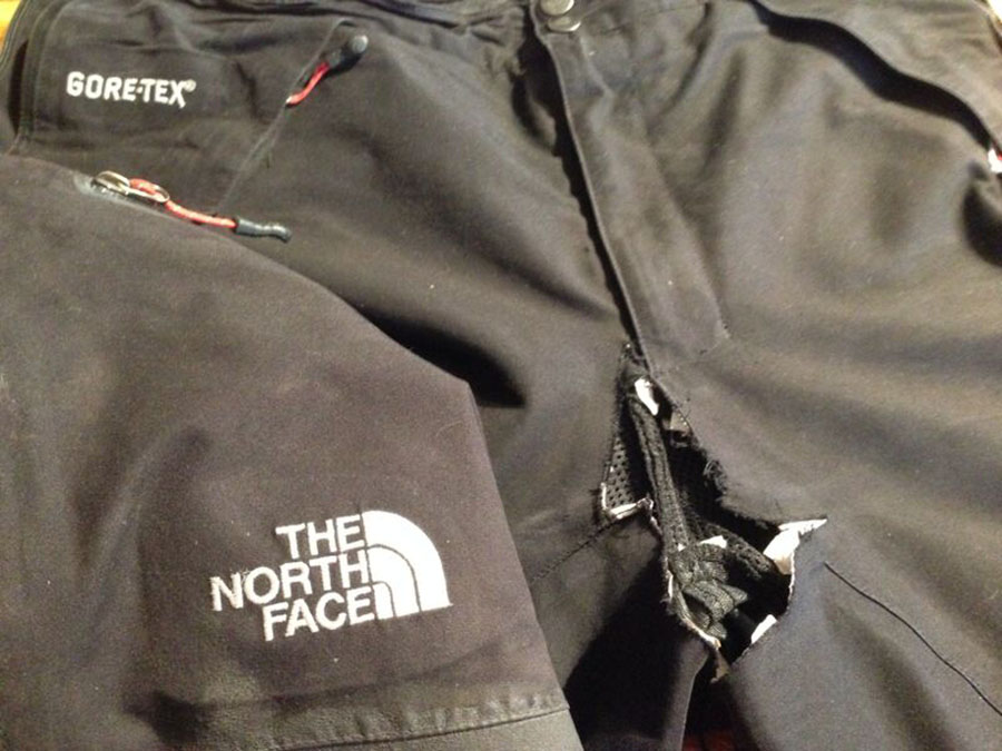 Even tough weatherproof fabrics have the potential to be repaired. Check if your garment comes with a manufacturer warranty. Photo: Courtesy Rugged Thread