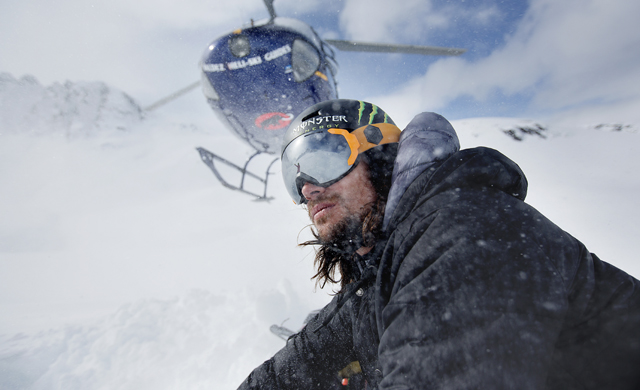 Rory Bushfield putting the new Bern goggles to the test in Valdez, AK.
