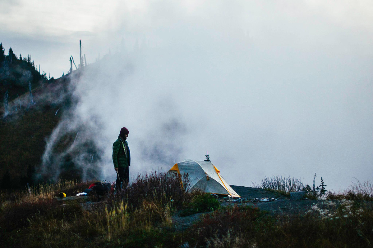 Donovan Jenkins explores a Hipcamp location in the Pacific Northwest. Photo: Donovan Jenkins