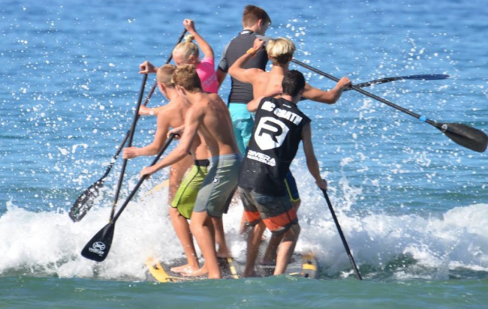 Jaime's paddling club for kids, The Paddle Academy, produces some of the most successful junior SUP racers in the game. But among their demanding training regiment, the club never loses sight of the sport's main objective: Good ol' fashioned fun! Photo: The Paddle Academy Facebook