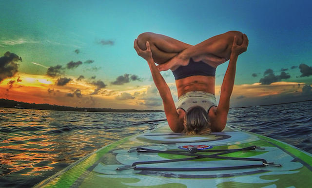 Hattingh, a yoga enthusiastic and instructor, was first attracted to paddleboarding because of SUP yoga.
