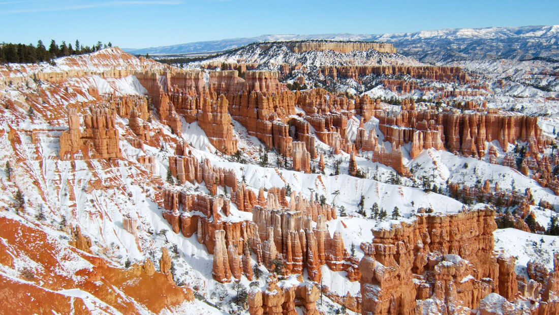 Start the new year off with solitude by taking an REI trip to Zion and Bryce Canyon. Photo: Courtesy of REI