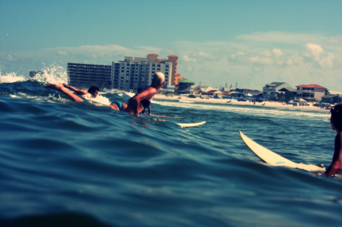 Surfing New Smyrna Beach in Florida, home of Billabong surfer Lindsay Perry. Photo: Kevin N. Murphy/Flickr