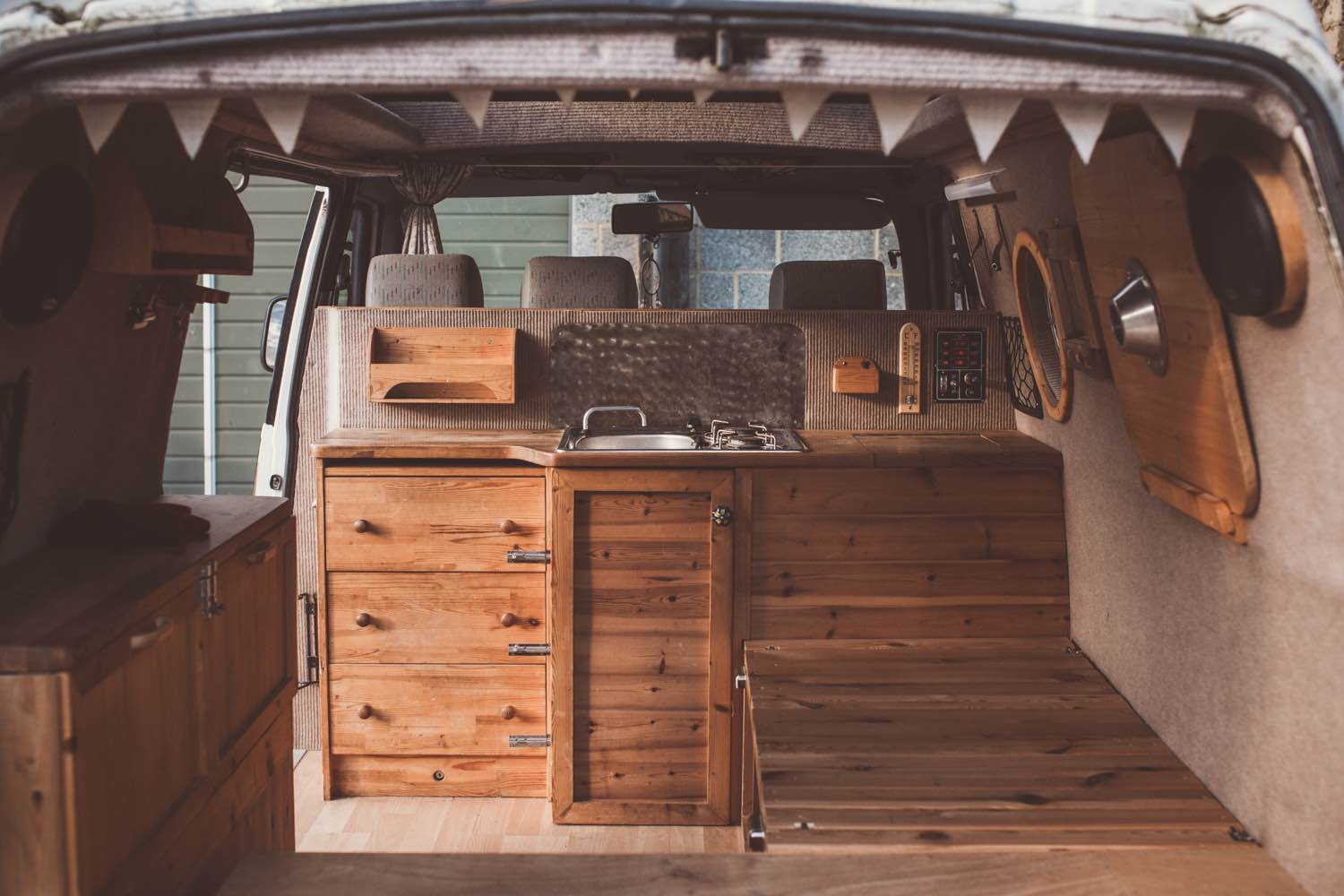 A place for everything and everything in its place. Photo by Rolling Home.