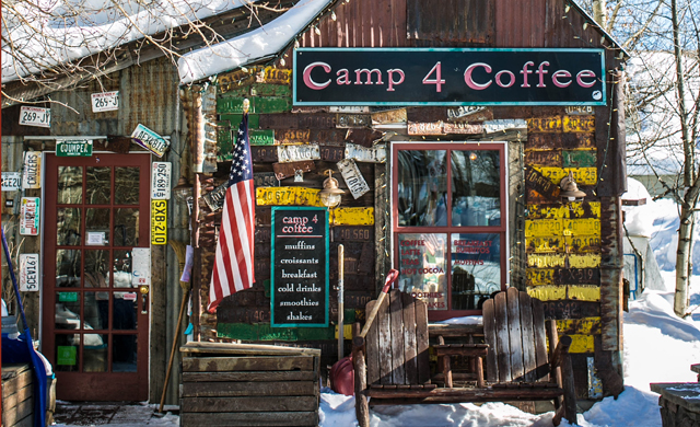 Al Smith's Camp4 Coffee is reminiscent of the town's coal mining days, and the coffee is all roasted by hand. Photo: Ann Coen.