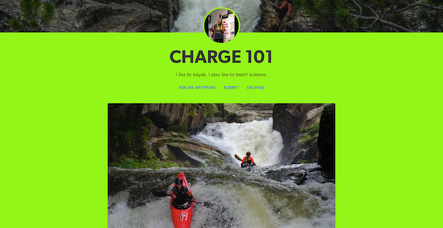 Caroline Moon talks about achieving a balance between career and kayaking on her blog Charge 101