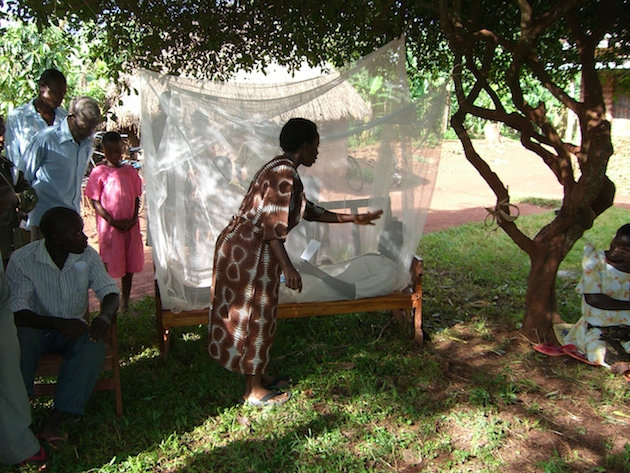 Early malaria education sessions.