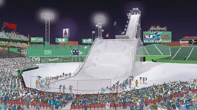 Beantown meets Big Air in one of the world's most famous stadiums. PHOTO: USSA