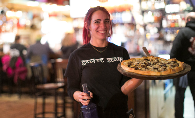 Secret Stash in the town of Crested Butte features a great vibe and creative pizza by East Coasters. Photo: Ann Coen.