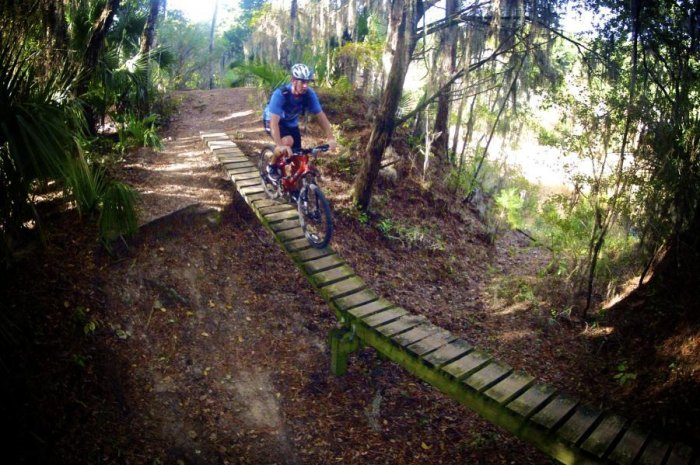 For some of the best mountain biking in Florida, Santos is a can't-miss. Photo: Courtesy of Mulberry Gap