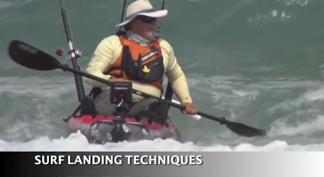 Jim Sammons is a pro at getting in and out of the surf in a kayak. Watch the video and check out the following photos that show the safest approach
