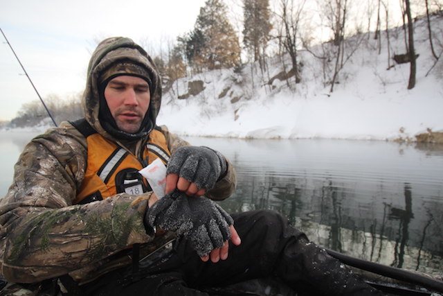 Foot and hand warmers can help, but making sure your gloves are dry is more important. Be sure to bring extras. Photo Jeff Little