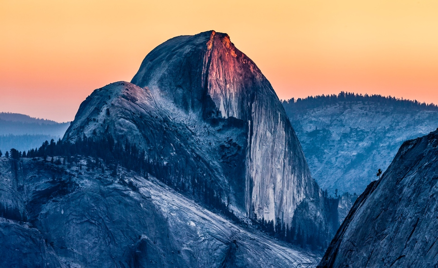 Top of Half Dome in Yosemite National Park